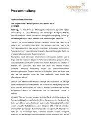 Pressemitteilung - Agentur Rönnau
