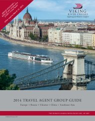 2014 TRAVEL AGENT GROUP GUIDE