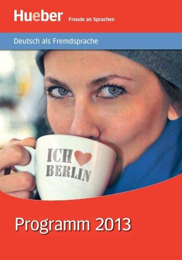 Deutsch als Fremdsprache Programm 2013 - Hueber