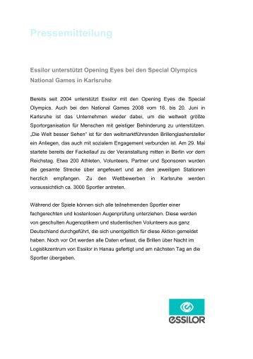 bcbe7ce4a5d Pressemeldung Juni 2008 - Essilor GmbH