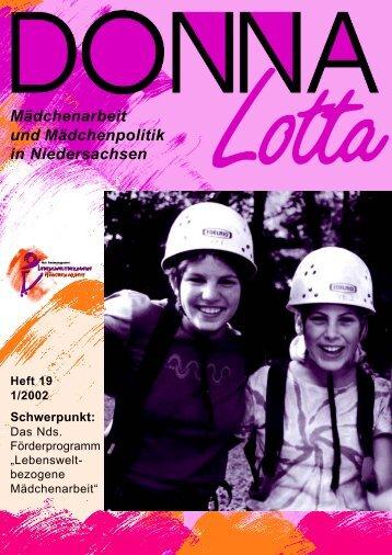 """Donna Lotta"", Heft 19, 2002 - Lebensweltbezogene Mädchenarbeit"