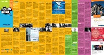 Programm 2013 - Expedition Colonia - Brainpool