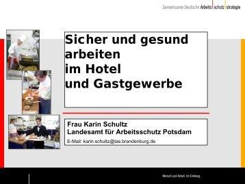 """""""Sicher und gesund arbeiten im Hotel und Gastgewerbe"""", Vortrag ..."""
