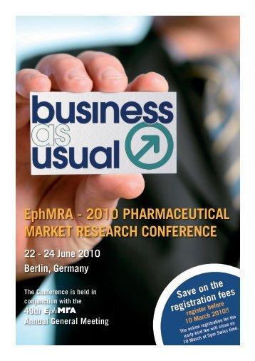 EphMRA - 2010 PHARMACEUTICAL MARKET RESEARCH ...