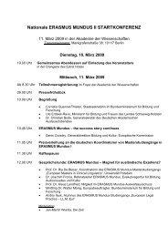 Nationale ERASMUS MUNDUS II STARTKONFERENZ - EU - DAAD