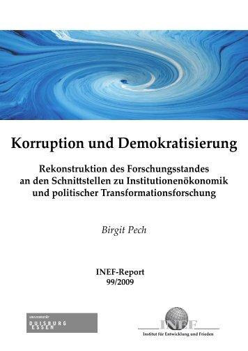 Birgit Pech Korruption und Demokratisierung - INEF