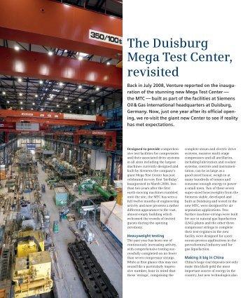 The Duisburg Mega Test Center, revisited - Siemens Energy