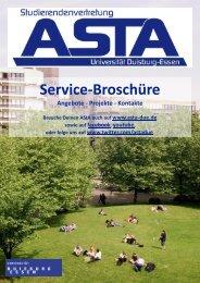 AStA-Service-Broschüre für das WiSe 2011/2012