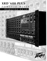 XRD 680 Plus Powered Mixer - Peavey