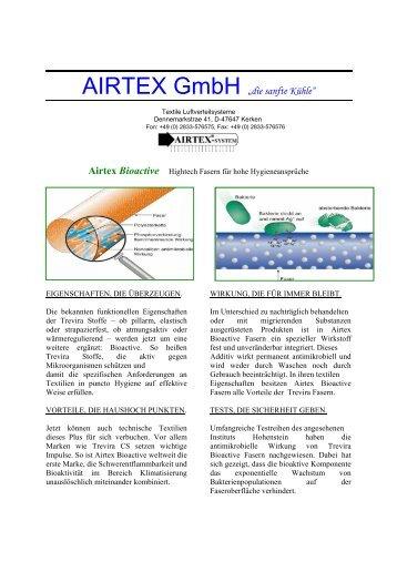 """AIRTEX GmbH """"die sanfte Kühle"""" - AIRTEX GmbH Textile ..."""