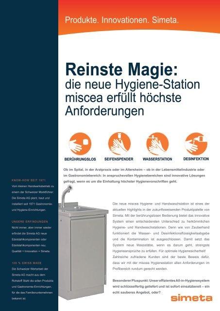 Reinste Magie: - und Handwaschstation Miscea