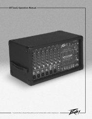 XR 600G Powered Mixer - Peavey