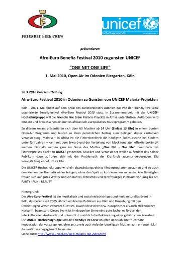 Afro-Euro Benefiz-Festival 2010 zugunsten ... - Roots & Routes