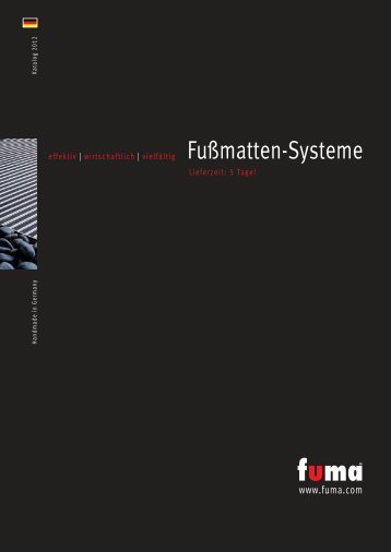 Katalog FUMA Fußmatten-Systeme 2012 als PDF