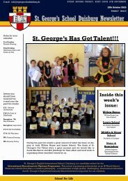 St. George's School Duisburg Newsletter - St. George's - The ...
