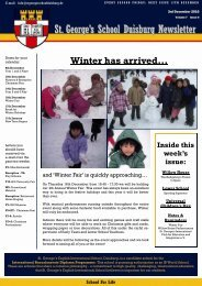 St. George·s School Duisburg Newsletter - St. George's - The ...
