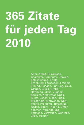 365 Zitate für jeden Tag - Zitate.de