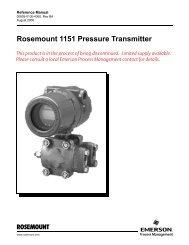 Rosemount 1151 Pressure Transmitter - Emerson Process ...