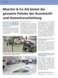 PDF Bericht Inside 08 - Maertin & Co. GmbH