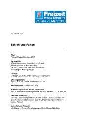 13 FMN Zahlen und Fakten - Freizeit Messe Nürnberg