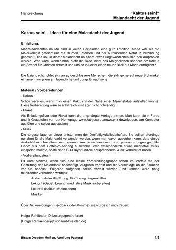 Hinweise für die Form einer Handreichung - Bistum Dresden-Meißen