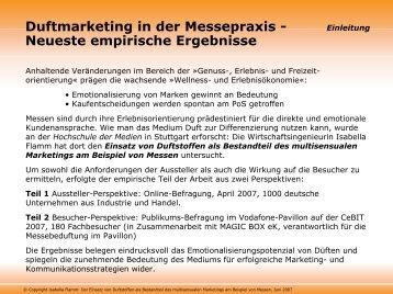Duftmarketing in der Messepraxis - Magic Box e.K. Special Events