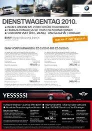 dIenstwagentag 2010. - BMW Group - Niederlassung Berlin