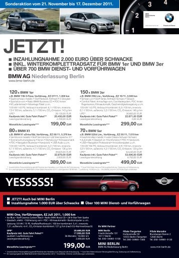 JETZT! - BMW Group - Niederlassung Berlin