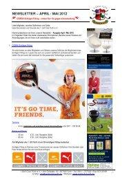 NEWSLETTER – APRIL / MAI 2012 - Golfclub Fürth