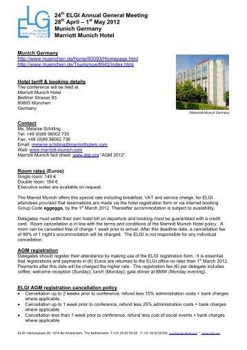 1 May 2012 Munich Germany Marriott Munich Hotel - ELGI