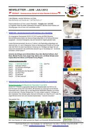 NEWSLETTER – JUNI / JULI 2012 - Golfclub Fürth