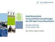 Präsentation im Haupt- und Finanzausschuss am 29.01.13 - Stadt ...
