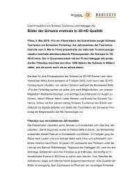 Bilder der Schweiz erstmals in 3D-HD Qualität - Habegger AG