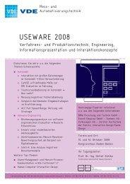 Programmheft zur USEWARE 2008 - User Interface Design GmbH