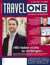 magazin für reiseprofis - Travel-One