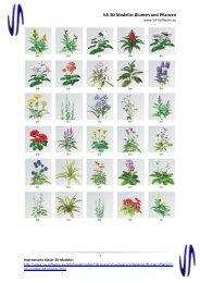 VA 3D Modelle: Blumen und Pflanzen - VA-Software