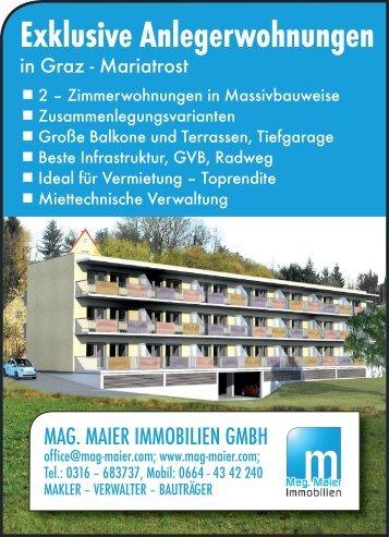 Exklusive Anlegerwohnungen - Mag. Maier Immobilien KEG