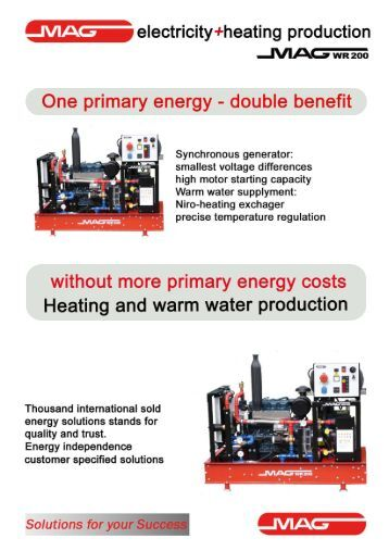 M electricity+heating production - MAG-MOTOREN GesmbH