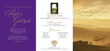 F ratelli per sempre Purple & Gold Gala - Christian Brothers Academy