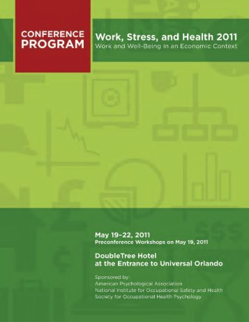 WSH Conference 2011 Program - American Psychological Association