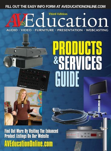 Audio • video • furniture • presentation - AV in Education