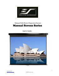 Elite Screens Inc M100uwh Use And Care Manual