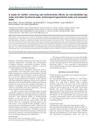 A study for biofilm removing and antimicrobial effects by ...