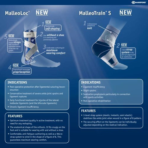 MalleoLoc® and MalleoTrain® S The stability program ... - Bauerfeind