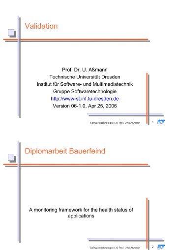 Validation Diplomarbeit Bauerfeind - Www-st.inf.tu-dresden.de ...