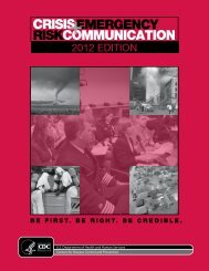 Crisis and Emergency Risk Communication: 2012 Edition