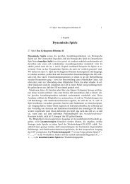 Angewandte Spieltheorie 5. Kapitel