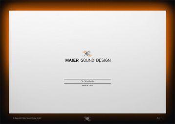 MAIER SOUND Schildkröte [PDF] - Maier Sound Design