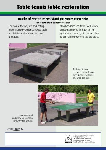 Table tennis table restoration - Maillith
