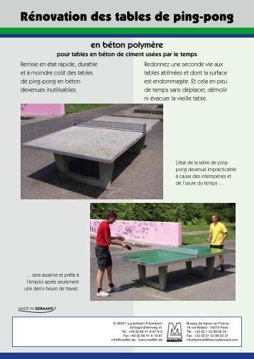 Dépliant Rénovation des tables de ping-pong - Maillith